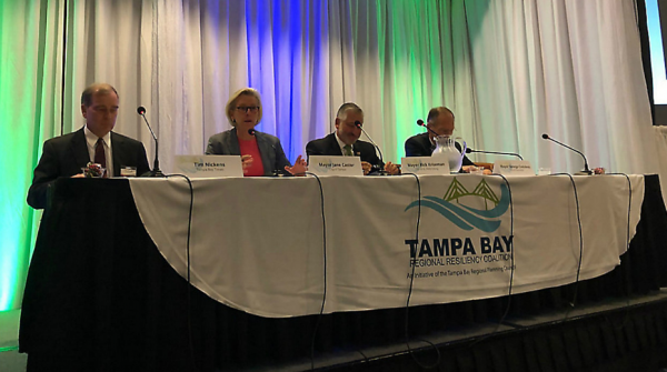 The three Tampa Bay mayors discussed climate change on Tuesday. (Mitch Perry/Spectrum Bay News 9)
