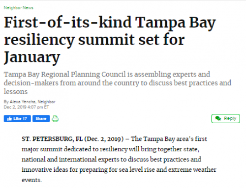 First-of-its-kind Tampa Bay resiliency summit set for January